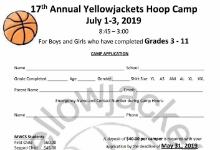 Yellow Jacket Summer Basketball Camp